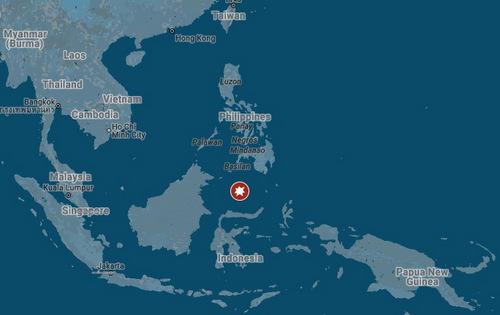 Vị trí tàu sân bay Carl Vinson của Mỹ hôm qua. Đồ hoạ: Googlemaps