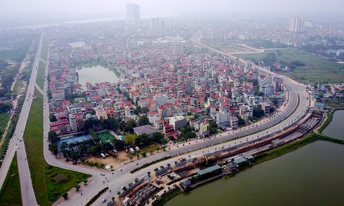 Đường cong 'dát vàng' ở Hà Nội nhìn từ trên cao