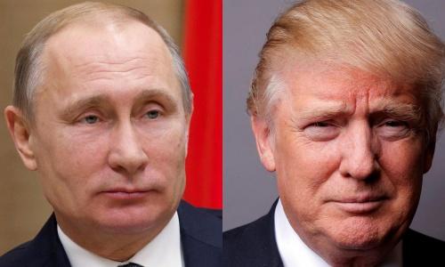 Tổng thống Nga Vladimir Putin và Tổng thống Mỹ Donald Trump. Ảnh: