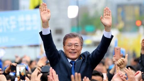 Ứng viên tổng thống Moon Jae-in. Ảnh: