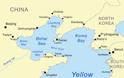 Vị trí vùng biển Bột Hải (Bohai Sea). Đồ hoạ: Wikipedia