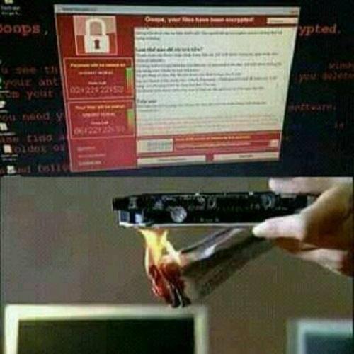Hoặc nếu trót dính, bạn có thể dễ dàng xử lý bằng cách đốt ổ cứng.