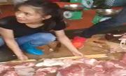 Dân kéo tới mua thịt heo ủng hộ người bị hắt dầu luyn