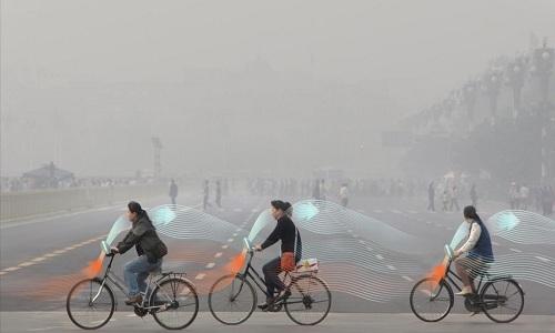 Xe đạp 'ăn' khói mù và nhả không khí sạch ở Trung Quốc