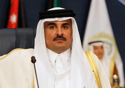 Quốc vương Qatar Tamim bin Hamad al-Thani. Ảnh: Reuters.