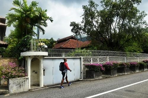 Căn nhà gia đình Lý Quang Diệu ở 38 đường Oxley. Ảnh: AFP
