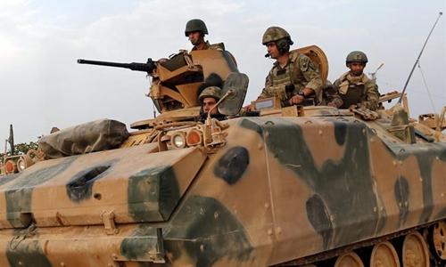 Binh lính Thổ Nhĩ Kỳ tới Qatar tập trận. Ảnh: Gulf News