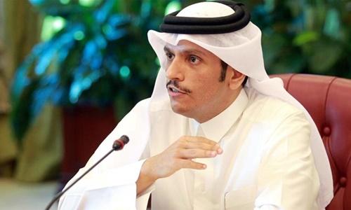 Ngoại trưởng Qatar Sheikh Mohammed bin Abdulrahman Al Thani. Ảnh: Reuters