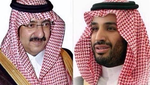 Mohammed bin Nayef (trái) và