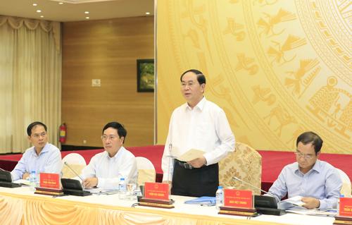 Chủ tịch nước Trần Đại Quang dự và phát biểu chỉ đạo Phiên họp lần thứ 8 của Uỷ ban Quốc gia APEC 2017