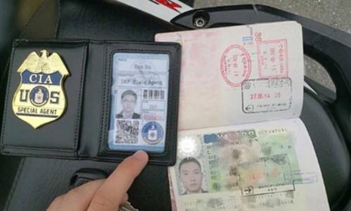 Giấy tờ giả của điệp viên CIA Trung Quốc. Ảnh: SCMP.