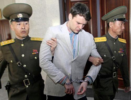Sinh viên Mỹ Otto Warbier bị bắt ở Triều Tiên. Ảnh: New York Times.