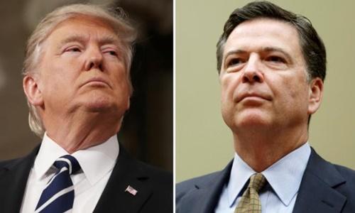 Tổng thống Mỹ Donald Trump và cựu giám đốc FBI James Comey. Ảnh: Reuters.
