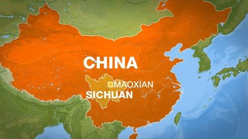 Vị trí huyện Mậu, tỉnh Tứ Xuyên, Trung Quốc. Đồ họa: Al Jazeera.