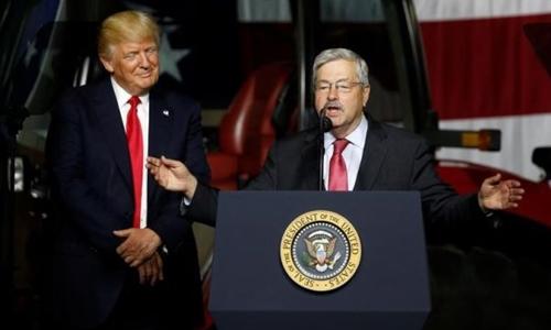 Terry Branstad, đại sứ Mỹ tại Trung Quốc. Ảnh: Reuters.
