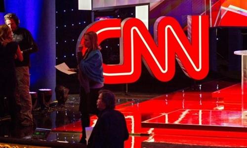 CNN từng nhiều lần bị Tổng thống Mỹ Donald Trump chỉ trích là hãng đưa tin tức giả. Ảnh minh họa: AFP.