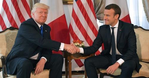 Tổng thống Mỹ Donald Trump và người đồng cấp Pháp