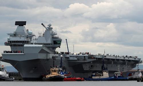 Tàu sân bay Anh HMS Queen Elizabeth. Ảnh: Reuters.