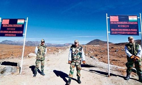 Biên giới Ấn Độ-Trung Quốc. Ảnh: AFP.