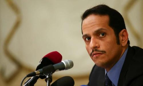 Mohammed bin Abdulrahman Al Thani, Ngoại trưởng Qatar. Ảnh: Reuters.