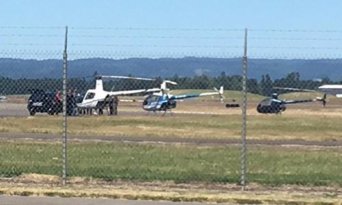 Hiện trường trực thăng tại sân bay