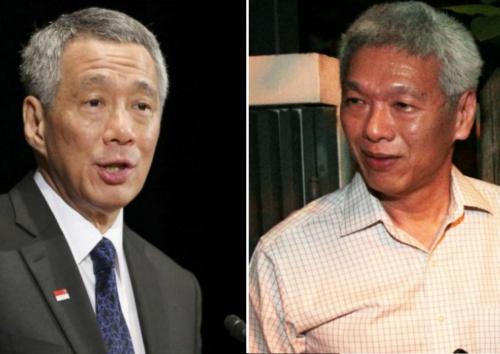 Thủ tướng Lý Hiển Long và em trai Lý Hiển Dương. Ảnh: TodayOnline