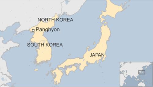 Vị trí Banghyon, tỉnh Bắc Pyongan, Triều Tiên. Đồ họa: BBC.