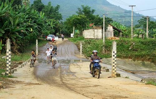 Đập tràn tại xã Linh Thông - nơi cả gia đình anh Lý Hải Lân gặp nạn.