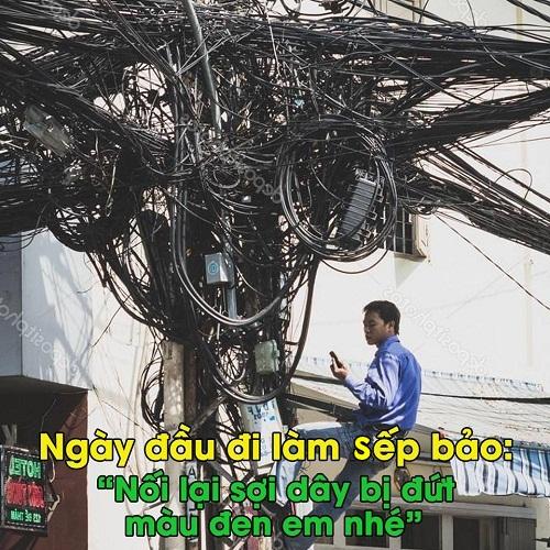 Nỗi niềm thợ điện.