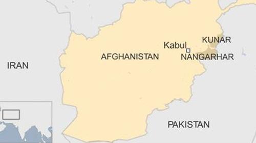 Vị trí tỉnh Nangarhar và Kunar, Afghanistan. Đồ họa: BBC.