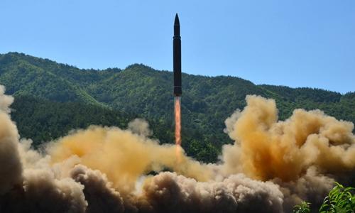 Tên lửa đạn đạo Triều Tiên phóng thử