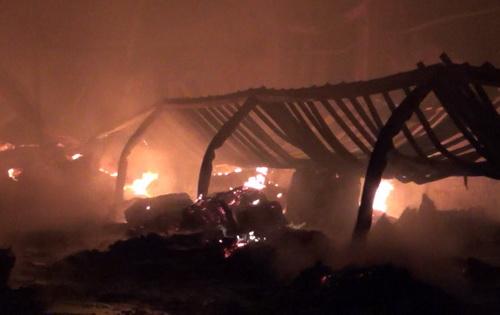 Xưởng gỗ hàng nghìn m2 ở Bình Dương bị thiêu rụi